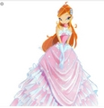Pink bloom season 5 domino aniversary gown  - the-winx-club fan art