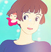 Ponyo on the Cliff by the Sea icon - ponyo-on-the-cliff-by-the-sea icon