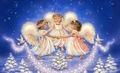 Pretty Christmas Angels - angels fan art