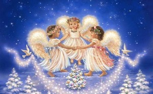 Pretty Christmas Angels