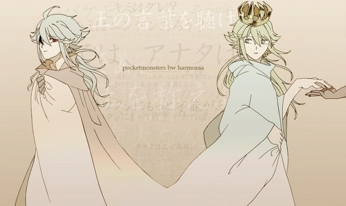 N(pokemon) kertas dinding entitled Past and Present - Prince Ghetsis Harmonia and Prince N Harmonia
