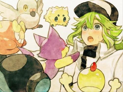 N(pokemon) kertas dinding entitled Prince N Harmonia with Several of his Pokemon Freinds