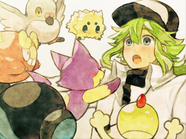 Prince N Harmonia with Several of his Pokemon Freinds
