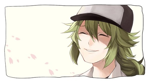 N(pokemon) kertas dinding titled Prince N Smiling Happily