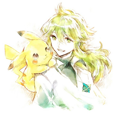 N(pokemon) wallpaper titled Prince N and a pikachu