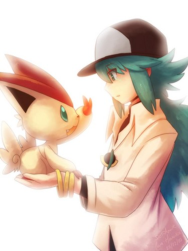 N(pokemon) wallpaper called Prince N holding a Victini
