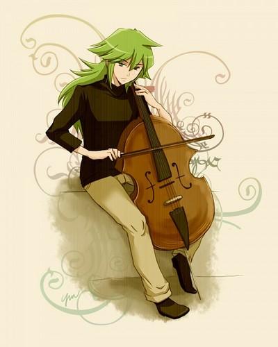 N(pokemon) پیپر وال entitled Prince N playing a Cello