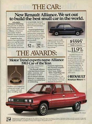 Promo Ad For 1983 Renault Alliance