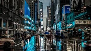 Rainy 日 In New City
