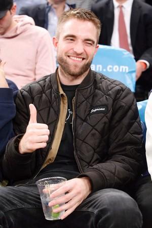Rob at a NY Knicks basketball game