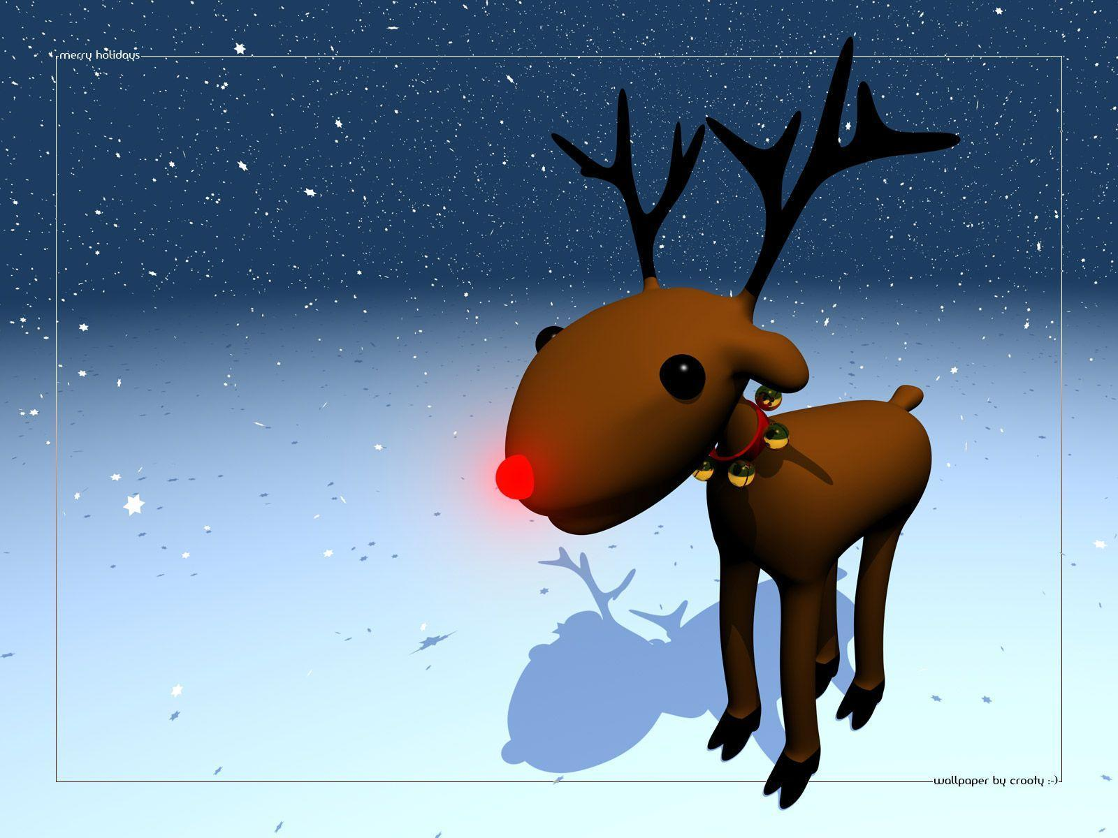 Wallpapers For > Rudolph The Red Nosed Reindeer Iphone Wallpaper