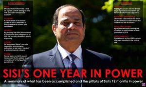 SISI ONE mwaka IN POWER IN EGYPT