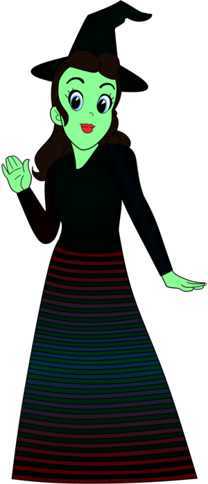 Sally ugoy Anime Elphaba Costume Render