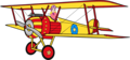 Sally Swing on her Biplane Anime Render - betty-boop photo