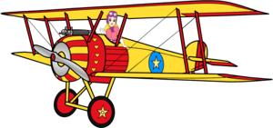 Sally hayun, swing on her biplan, biplane Anime Render