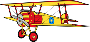 Sally Swing's biplan, biplane Anime Render