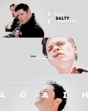 Sam, Dean, Castiel and Jack