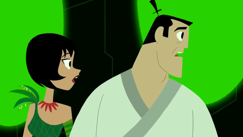 Samurai Jack Hintergrund called Samurai Jack and Ashi