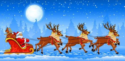natal wallpaper entitled Santa Claus Is Coming