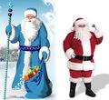 Santa Claus vs. Grandfather Frost - christmas fan art