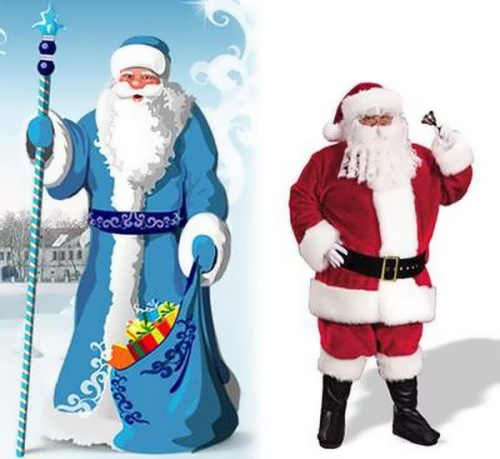Santa Claus vs. Grandfather Frost