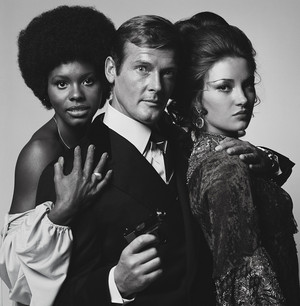 Sir Roger Moore And His Two LALD Co-Stars
