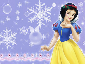 Snow White Winter kertas dinding