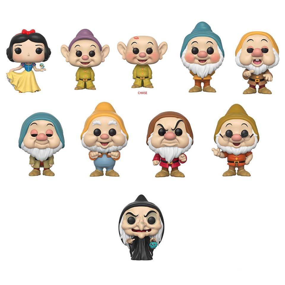 Snow White and the Seven Dwarfs pop figures
