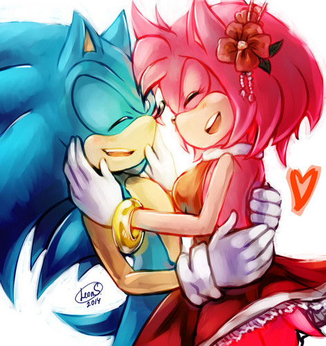 Sonic the Hedgehog wallpaper entitled Sonic X Amy