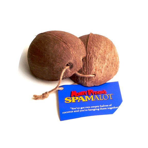 Spamalot Coconut Halves