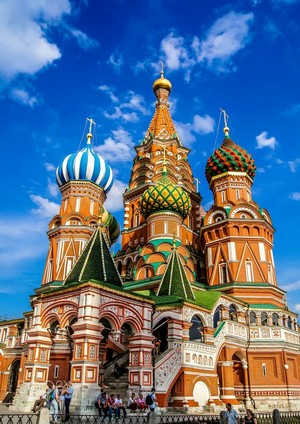 St. Basil's Cathedral In Moscow (Cathedral Of Vasily The Blessed In Red Square) [Exterior]