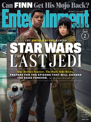 bintang Wars The Last Jedi - Finn and Rose Tico Entertainment Weekly Cover