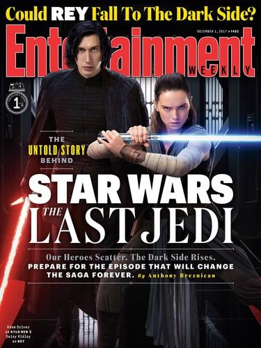 guerra nas estrelas wallpaper entitled estrela Wars The Last Jedi - Kylo Ren and Rey Entertainment Weekly Cover
