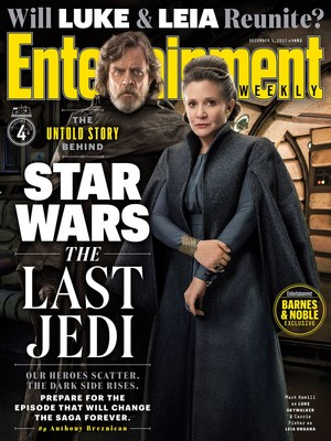 Star Wars The Last Jedi - Luke Skywalker and Leia Organa Entertainment Weekly Cover