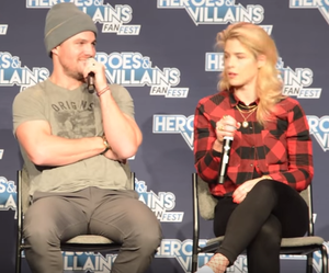 Stephen Amell & Emily Bett Rickards at HVFF San Jose