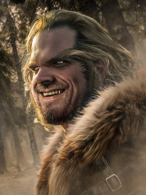 Stranger Things Turned into 'X-Men' Heroes and Villains - Hopper as Sabretooth