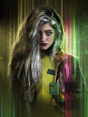 Stranger Things Turned into 'X-Men' ヒーローズ and Villains - Nancy as Rogue