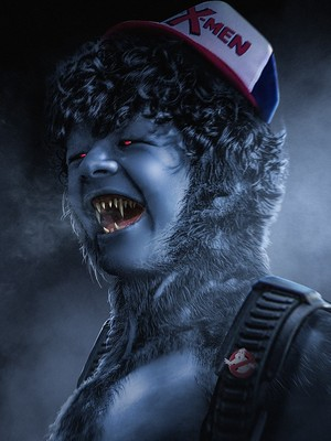 Stranger Things Turned into 'X-Men' ヒーローズ and Villains - Dustin as Beast