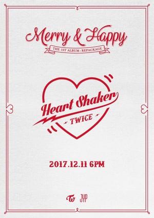 TWICE releases teaser for 1st album repackage 'Heart Shaker'