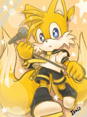 Tails cosplay as Len Kagamine