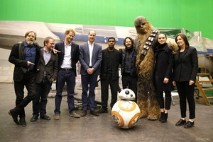 The Duke Of Cambridge And Prince Harry Visit The 'Star Wars' Film Set (April 19, 2016)