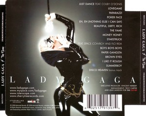 The Fame: Back Cover
