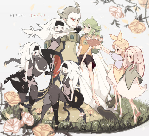N(pokemon) wallpaper titled The Harmonia Family and The Shadow Triad