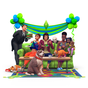 The Sims 4 - Three năm Anniversary Render