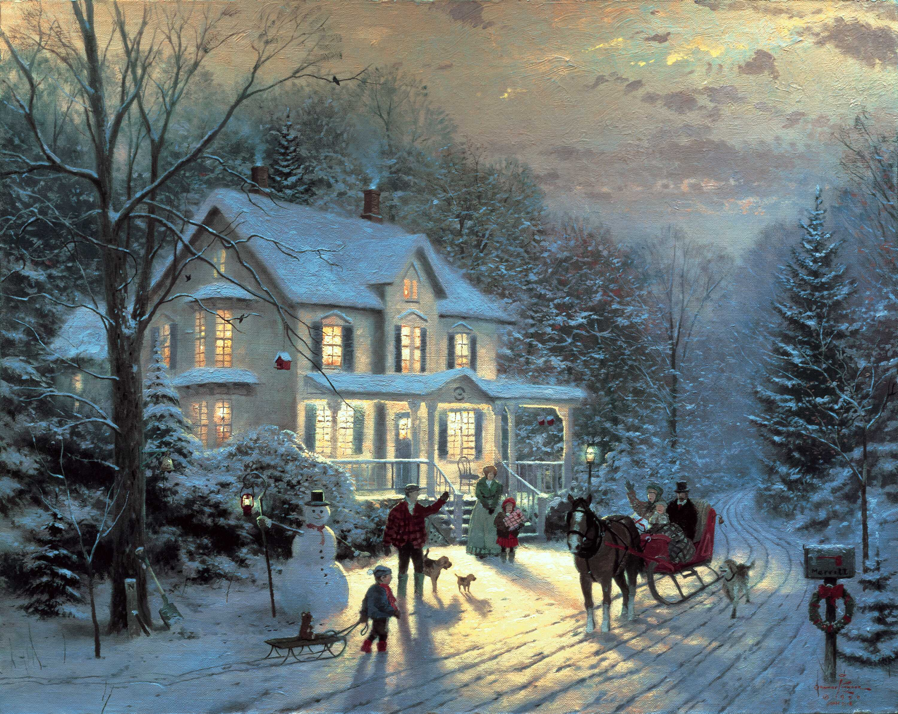 Thomas Kinkade Christmas.Thomas Kinkade Christmas Christmas Photo 40842002 Fanpop