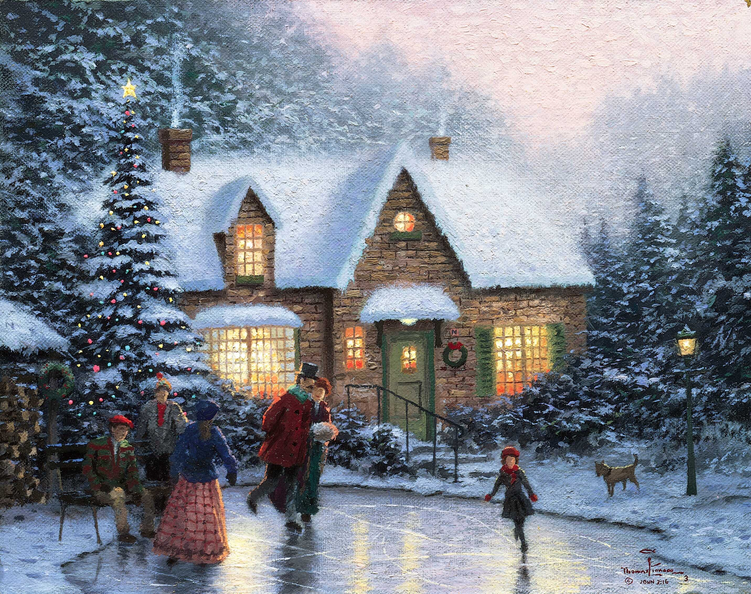 Thomas Kinkade Christmas.Thomas Kinkade Christmas Christmas Photo 40842022 Fanpop