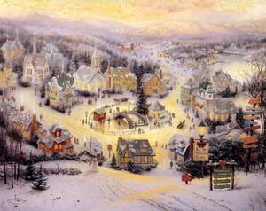 Thomas Kinkade クリスマス