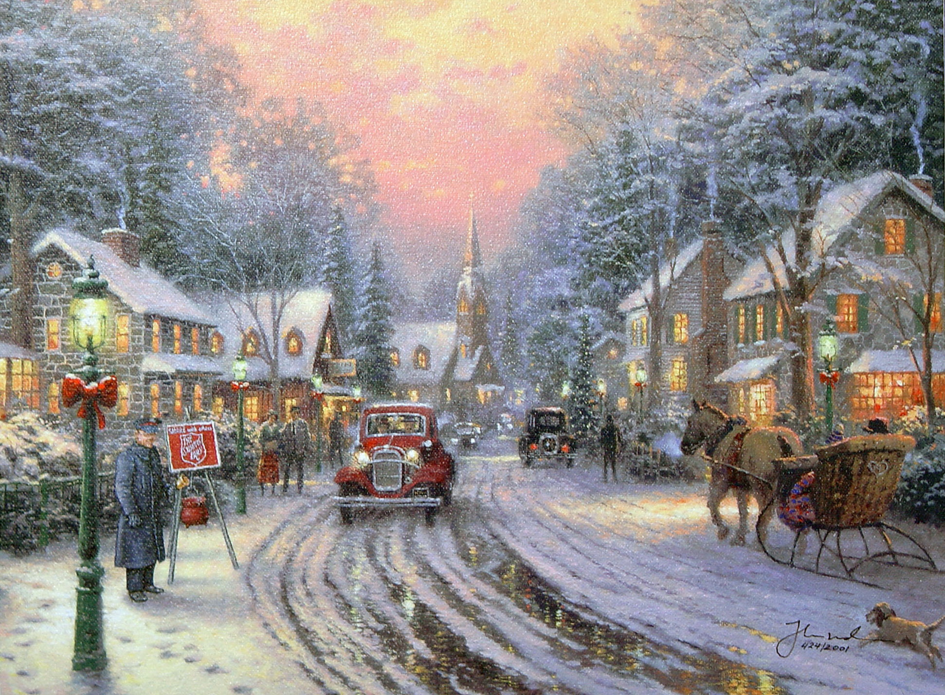 Thomas Kinkade Christmas.Thomas Kinkade Christmas Christmas Photo 40842040 Fanpop