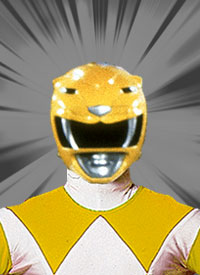 Trini Morphed As The Original Yellow Mighty Morphin Power Ranger