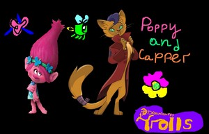 Trolls apiun, poppy and Capper JPG